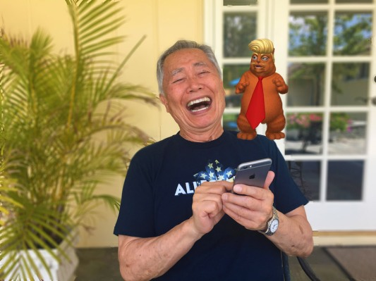 And now, here's a 'Trumpy Cat' augmented reality app from George Takei