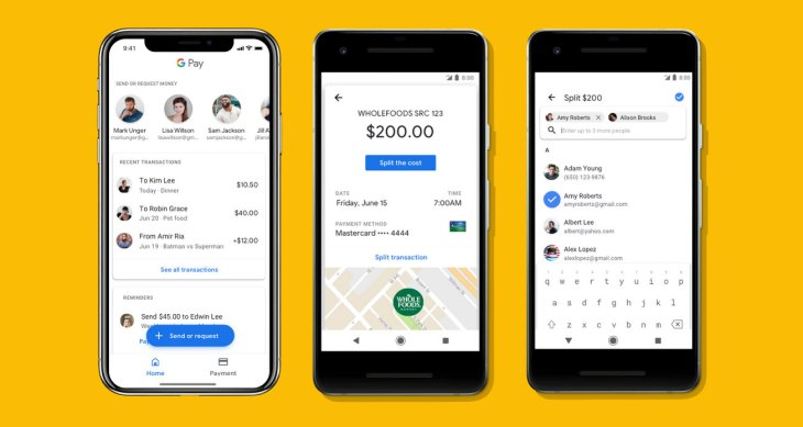 google pay rolls out support for peer to peer payments and mobile