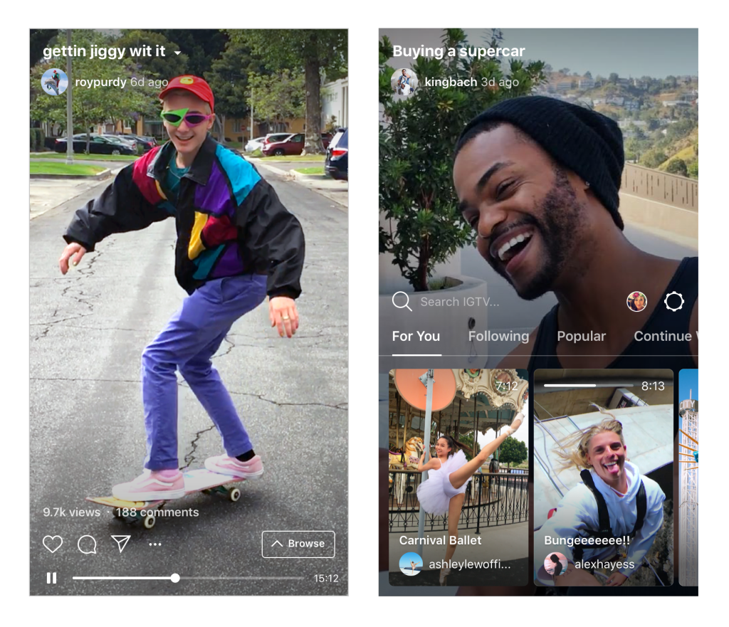 Why IGTV should go premium Instagram IGTV Screenshots