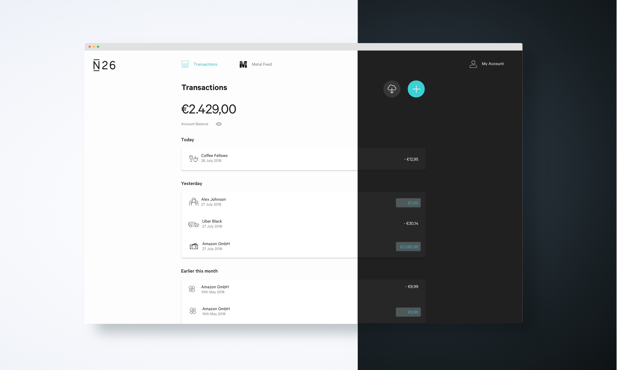 N26 updates its web app