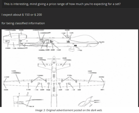 U.S. Air Force drone documents found for sale on the dark web for $200
