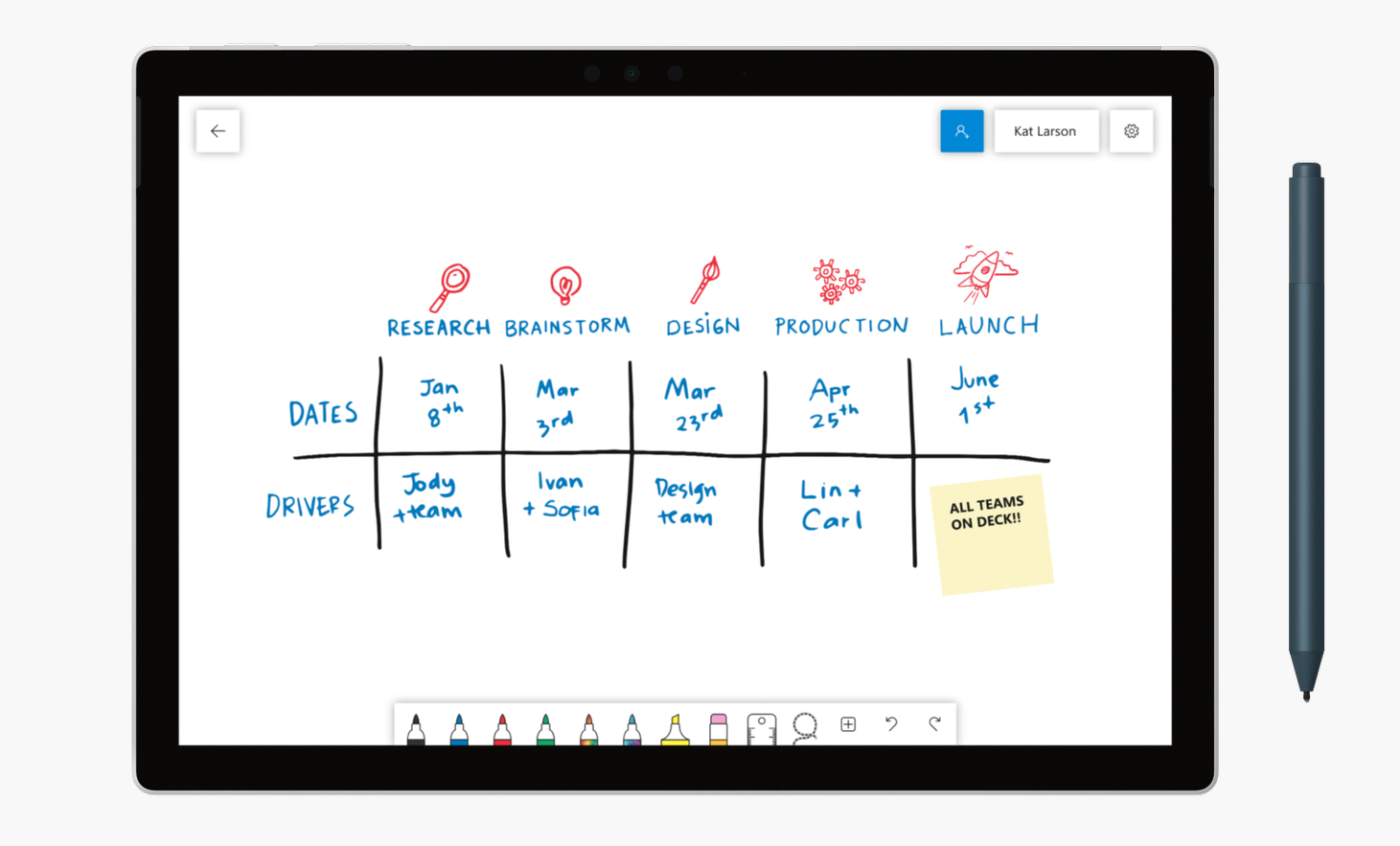 techcrunch.com - Brian Heater - Microsoft Whiteboard is available to all on Windows, iOS version coming soon