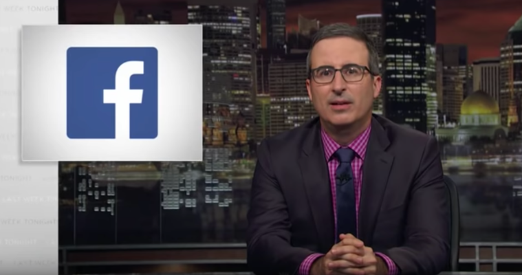 Jon Oliver Makes an Honest Facebook Ad