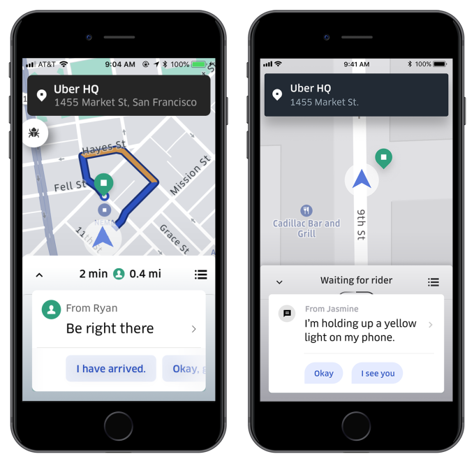 Wave Uber's new Spotlight or send canned chats to find your driver