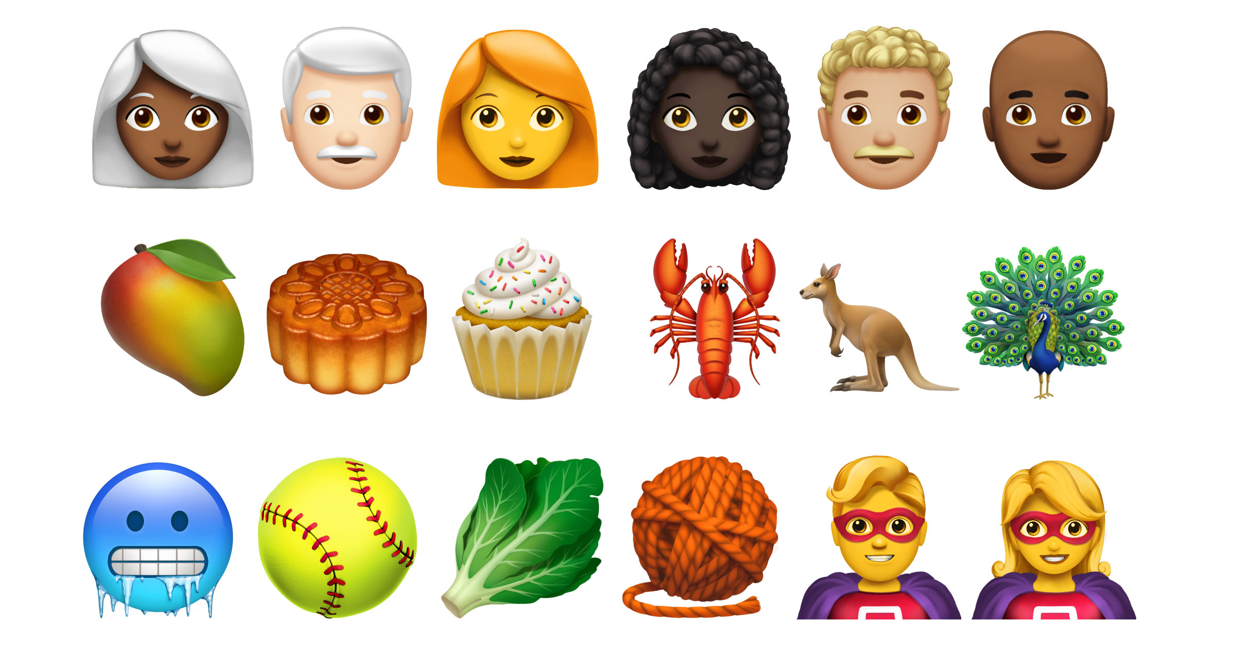 Apple emoji will soon include people with curly hair, white hair and