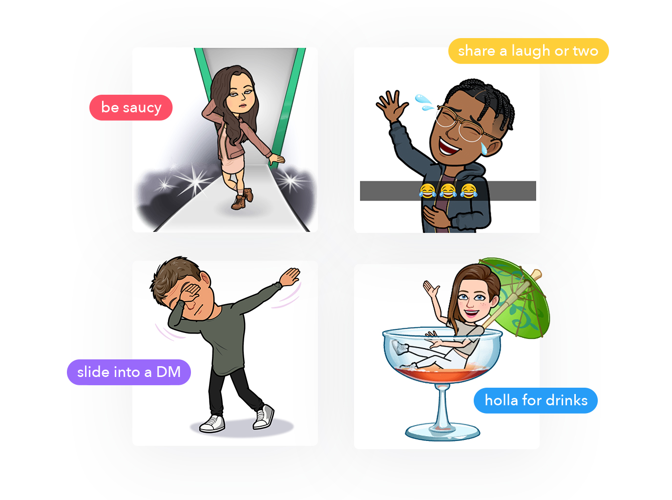 Tinder tests Bitmoji integration using the recently launched Snap