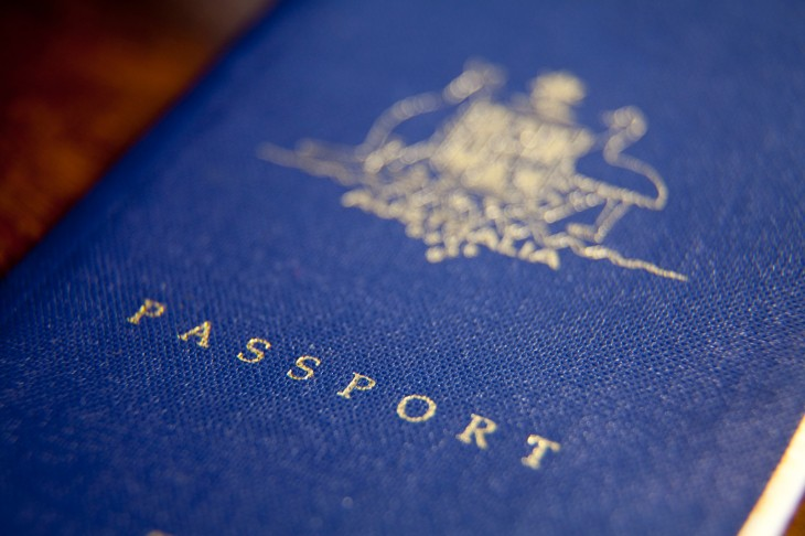 Front cover of an Australian passport.