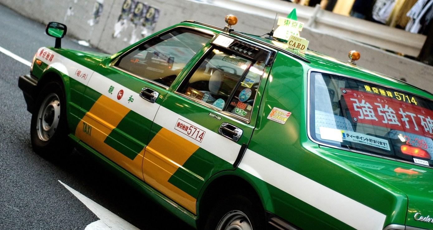 Japanisches Taxi.