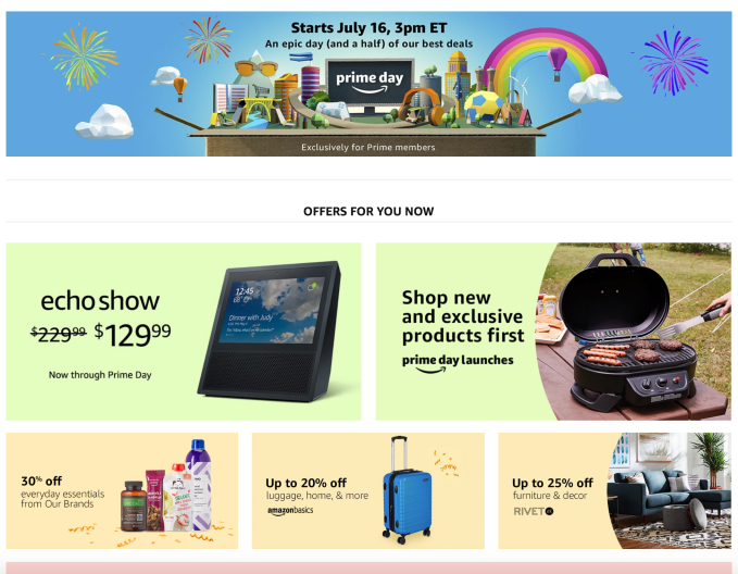 a bigger amazon prime day 2018 arrives july 16 with more deals devices and longer hours. Black Bedroom Furniture Sets. Home Design Ideas