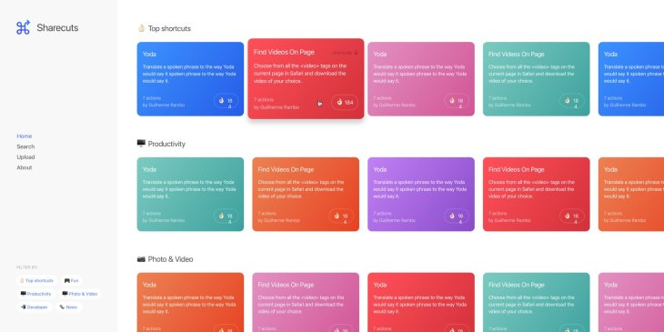 Sharecuts is creating a community for sharing Siri Shortcuts