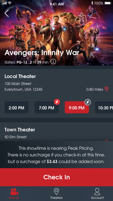 MoviePass subscribers will now pay surcharges for popular showtimes unnamed