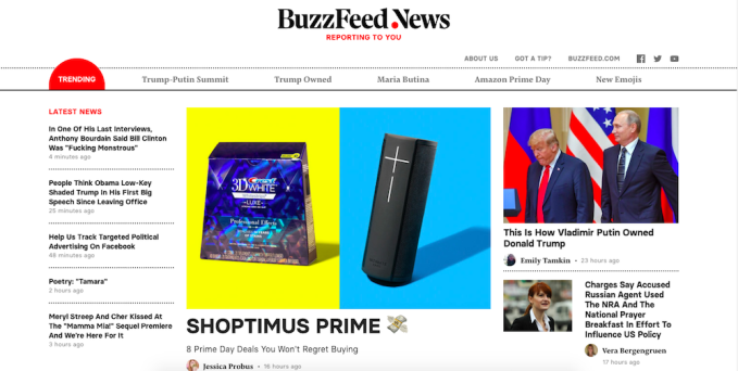 BuzzFeed launches a new website for its real journalism