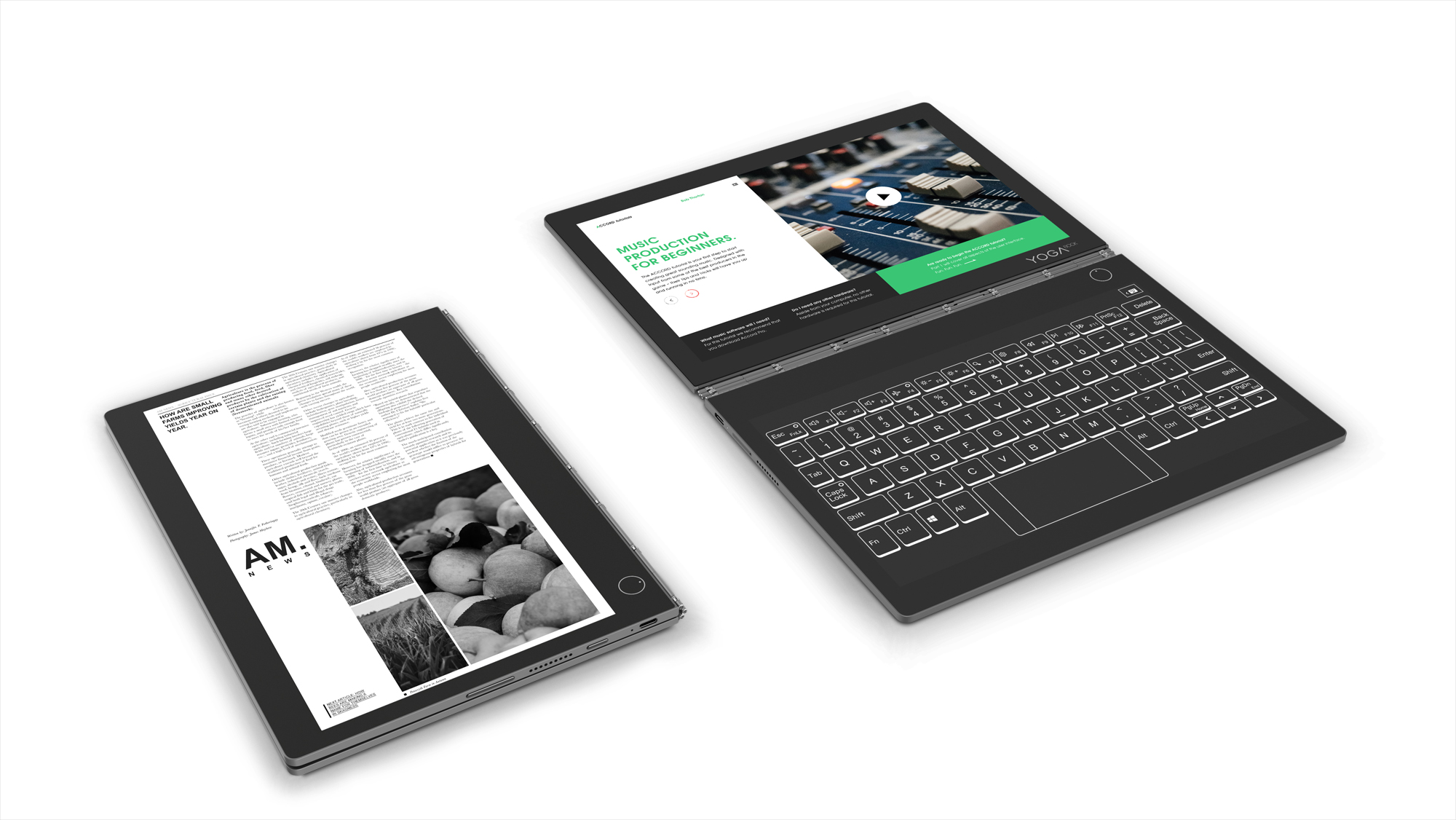 Lenovo's Yoga Book C930 swaps the keyboard for an E Ink display