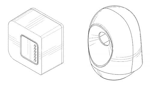 Facebook Patent zeigt das Design für eine Kamera (links) und Video Kamera (rechts) (Quelle: TechCrunch)