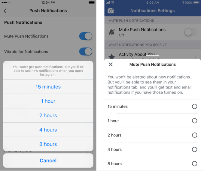 Facebook and Instagram now show how many minutes you use them
