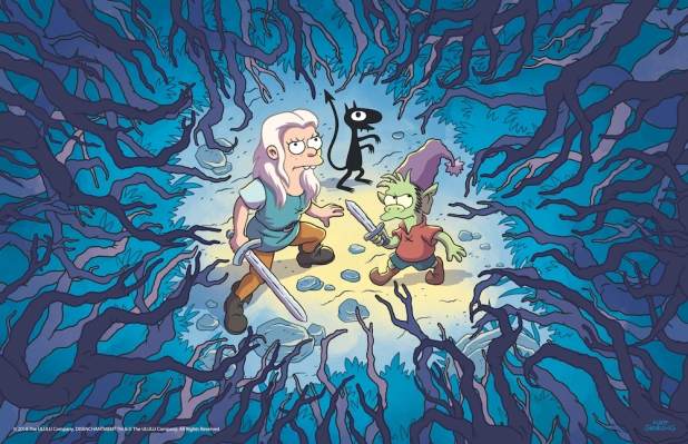 Original Content podcast: Netflix's 'Disenchantment' offers tongue-in-cheek fantasy adventures Forest Trio FIN 400dpi 11