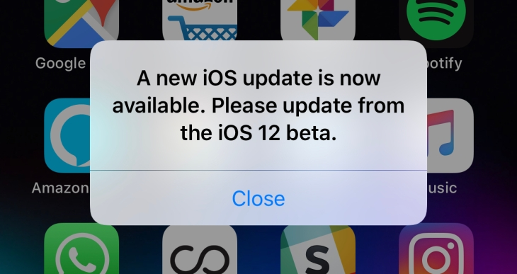 Techcrunch Bug Beta New Apple's 'please Fixes The Annoying Update' Ios 12