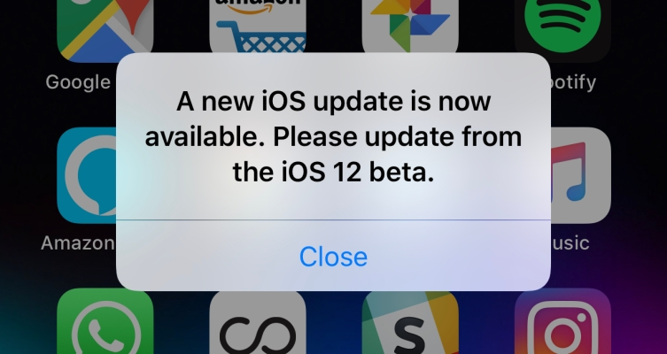 Apple's new iOS 12 beta fixes the annoying 'please update' bug