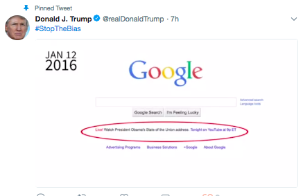 Google denies Trump's claim that it did not promote his State of the Union address
