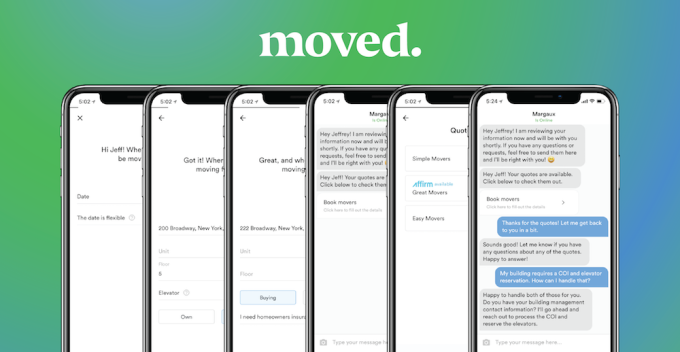 - Moved Screenshots Full - Lowe's Ventures backs Moved, a startup that makes moving less stressful