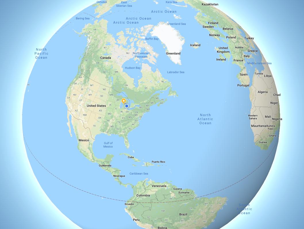 Google Maps is no longer #flatearth