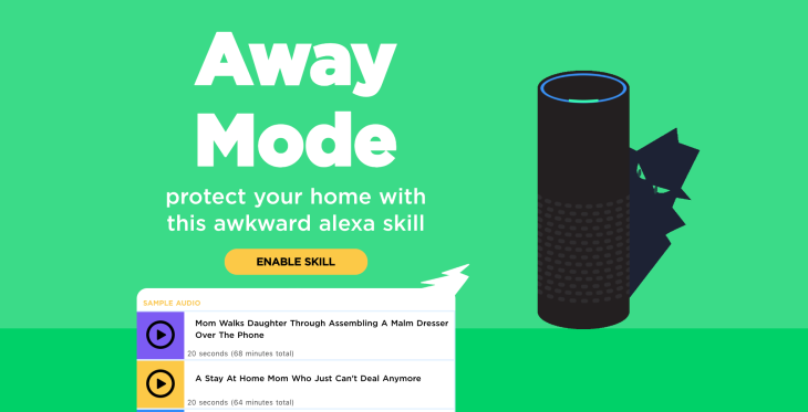 Scare off burglars with this ridiculous Alexa skill | TechCrunch