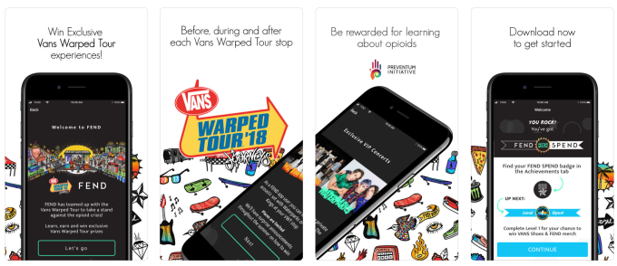 Vans Warped Tour bands back FEND, an app educating young adults about opioid dangers