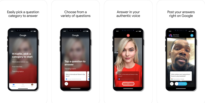 Google launches Cameos, a video Q&A app aimed at celebs