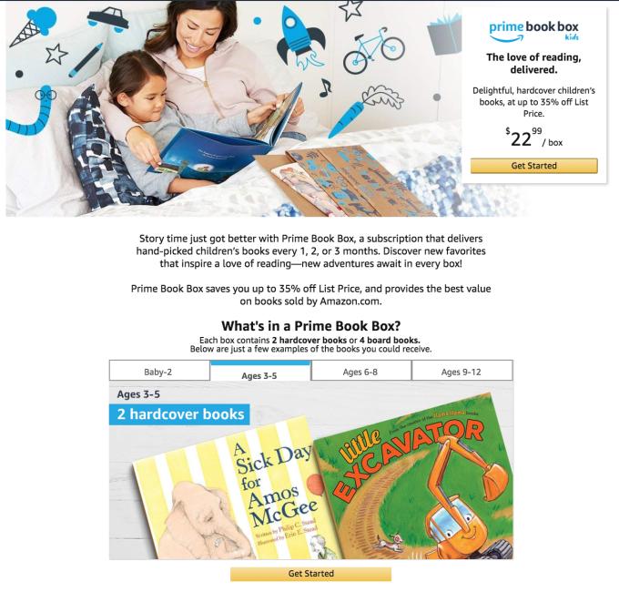 Amazon's children's book subscription 'Prime Book Box' opens to all in the U.S.