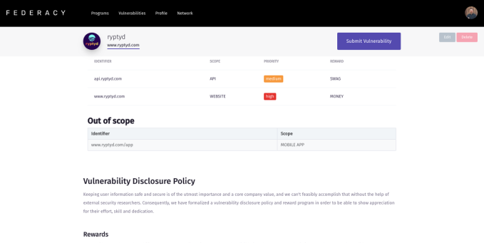 Federacy wants to put bug bounty programs in reach of every startup