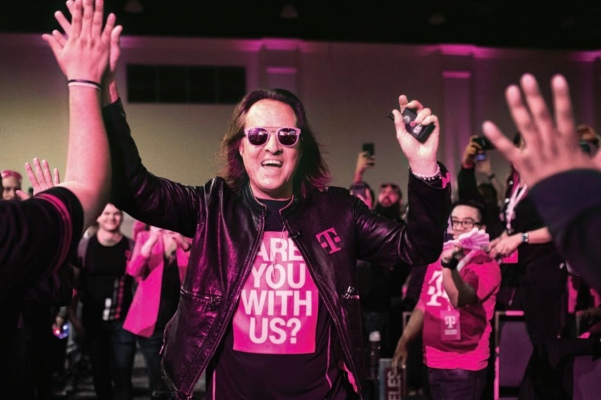 John Legere is stepping down as CEO of T-Mobile, succeeded by deputy Mike Sievert on May 1
