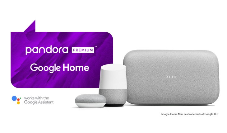 Pandora Premium comes to Google Assistant-powered devices