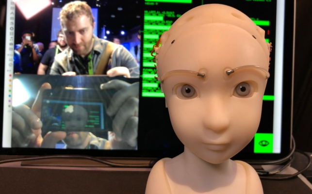 This Robot Maintains Tender, Unnerving Eye Contact