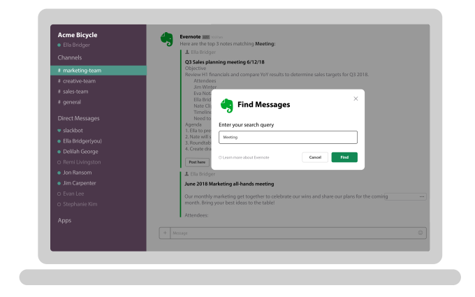 Evernote refines integrations with Slack and Salesforce