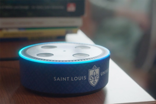 A university is outfitting living spaces with thousands of Echo Dots