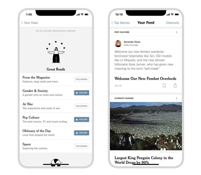 The NYT adds a personalized 'news feed' to its iOS app