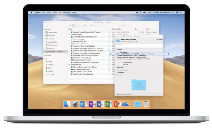Microsoft OneDrive's on-demand files come to the MacOS Finder