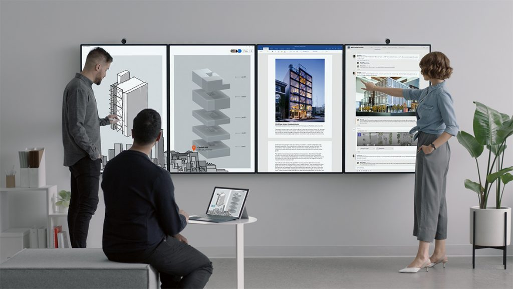 Microsoft's massive Surface Hub 2 whiteboards will launch in Q2 2019