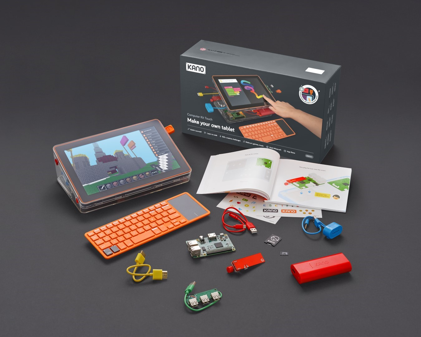 MAKE YOUR OWN LAPTOP. KANO COMPUTER KIT COMPLETE