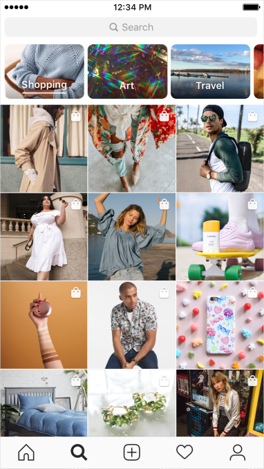 b50eeb604a34fa Instagram Shopping gets personalized Explore channel