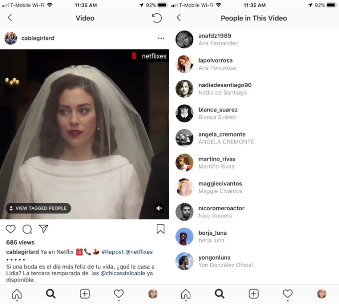 Tagging Video - Novità Algoritmo Instagram 2018