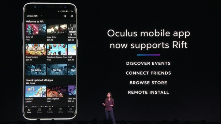 Oculus mobile app will now let users remote install PC games