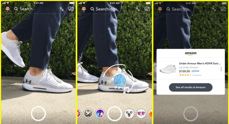 Snapchat Visual Search Amazon Product