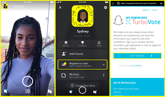 6d04fe9485631 Snapchat s users are surprisingly old and it s telling them to vote ...