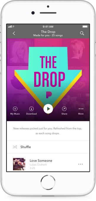 Pandora takes on Spotify's Release Radar with its newest playlist, The Drop