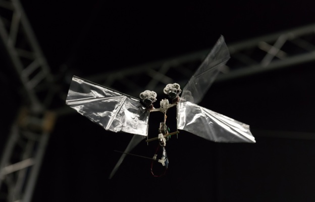This Insect-inspired Robot Can Fly a Kilometer on a Charge with its Flappy Wings