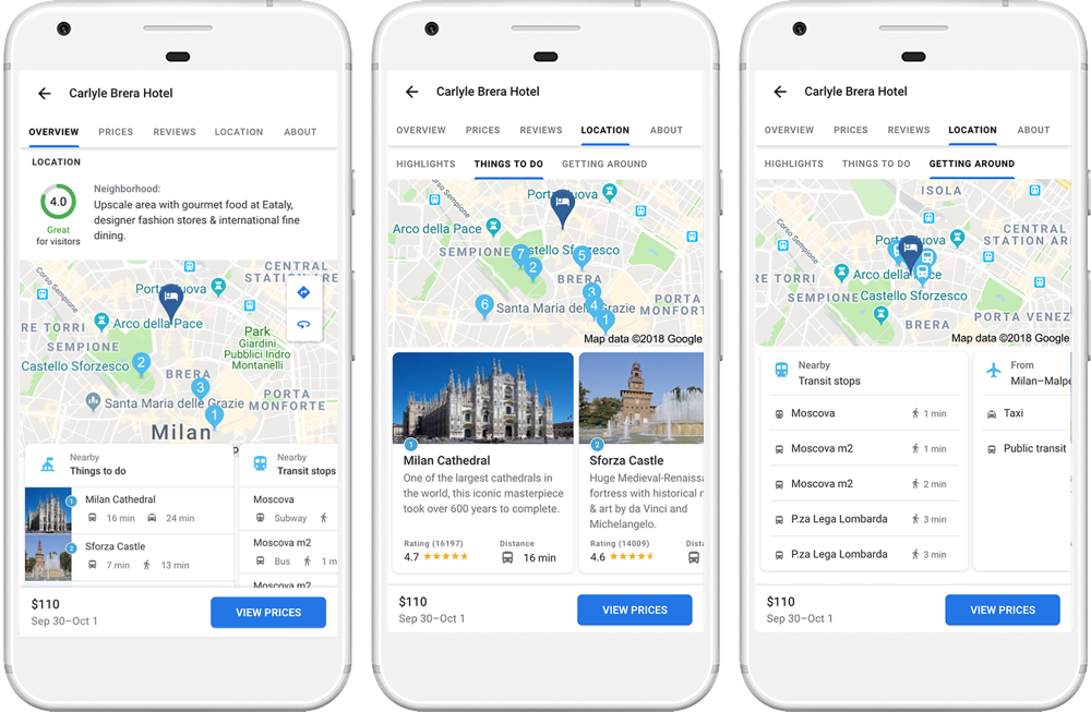 Google Maps and Trips Update