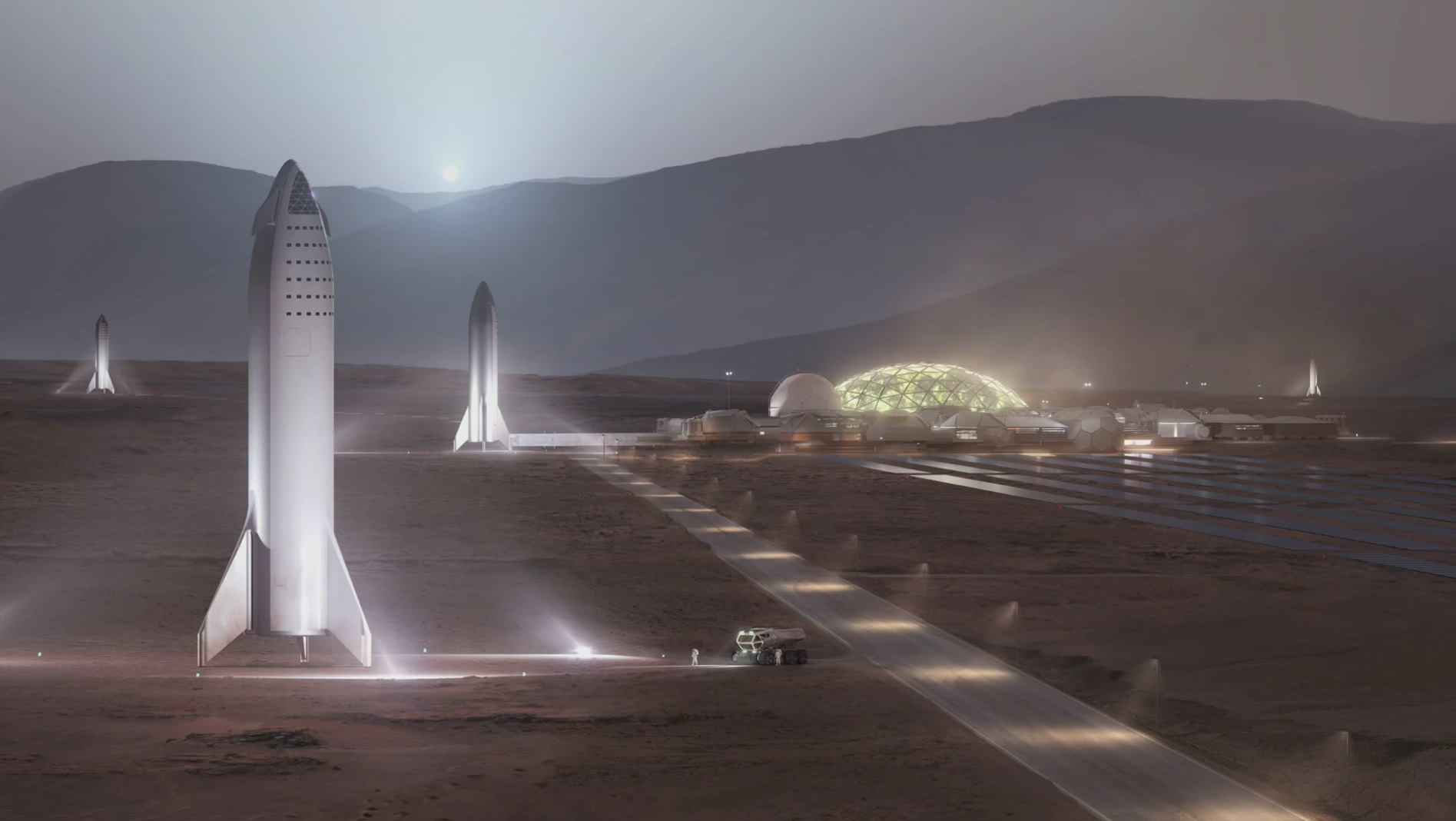 18 new details about Elon Musk's redesigned, moon-bound 'Big F*ing Rocket' spacex1