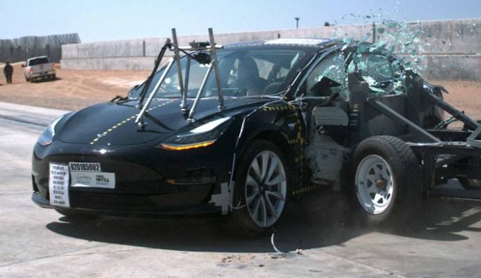 Watch how Tesla Model 3 earned NHTSA's top safety rating tesla crash test