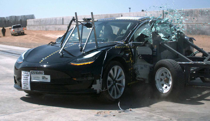 Watch how Tesla Model 3 earned NHTSA's top safety rating